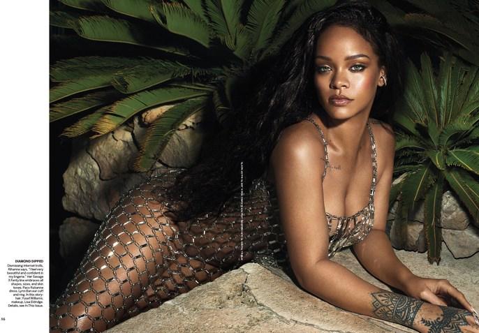 Editorial, VOGUE, Mert Alas & Marcus Piggott, makeup, Rihanna, Magazine Cover, artists-featured-news, lisa eldridge
