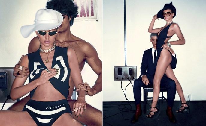Vogue Italia, Editorial, Steven Klein, Patti Wilson, source: vogue italia, Gigi Hadid, Magazine Cover