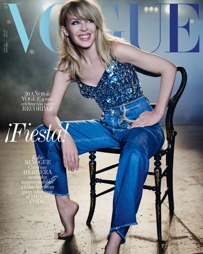 Petros Petrohilos, Vogue Spain, Kylie Minogue, Andrea Cellerino, Boo George, 2018, JULY 2018