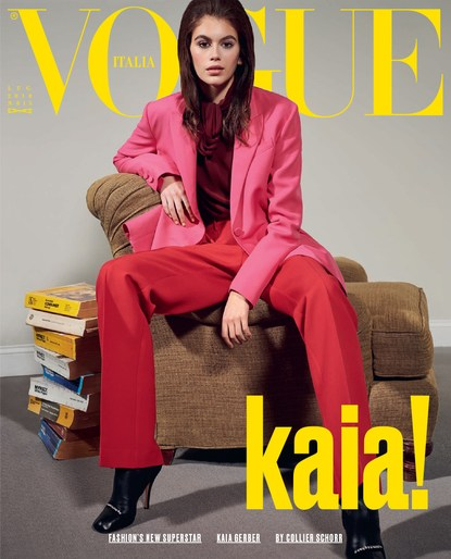 Editorial, Vogue Italy, Patti Wilson, styling, Magazine Cover