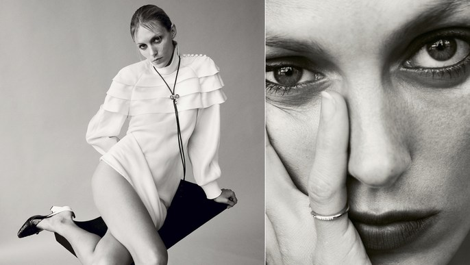 Petros Petrohilos, Anja Rubik, Doutzen Kroes, edie campbell, Editorial, Vogue German, Daniel Jackson, makeup