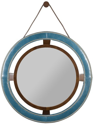 Robineau Road Upholstered Round Mirror 9400-MI  -