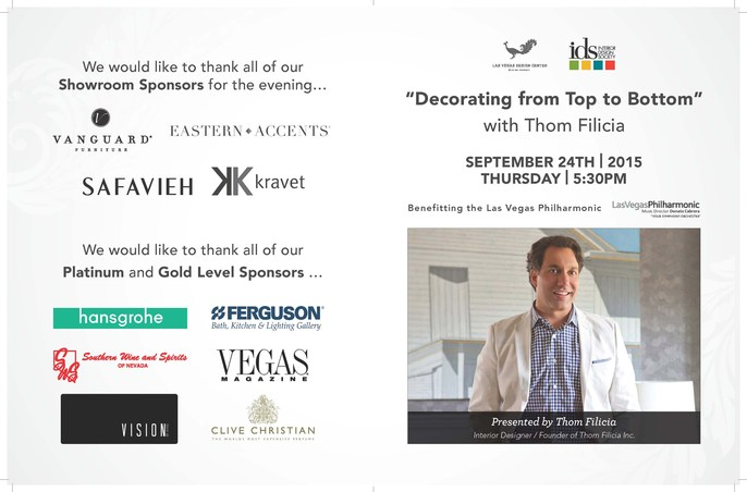 Thom Filicia News Las Vegas Design Center Decorating From Top