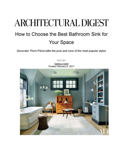 Architectural Digest.com February 2017 -